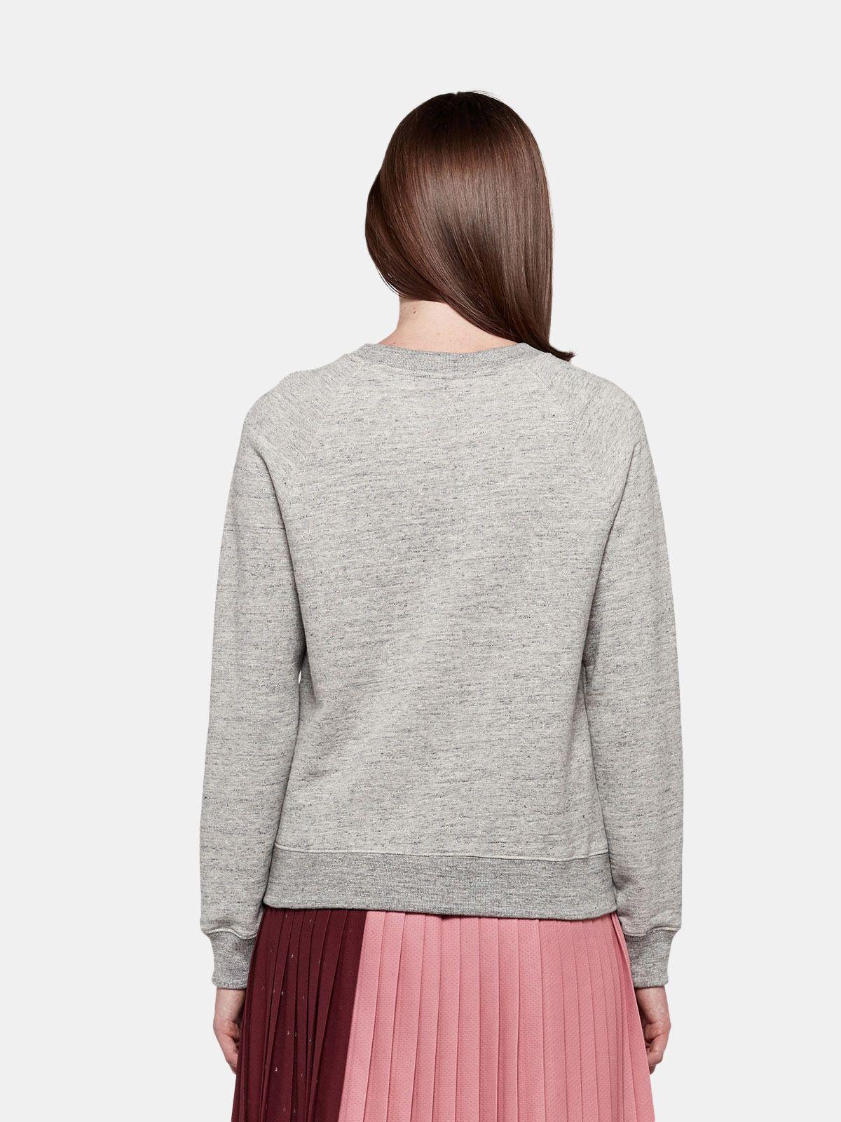 Golden Goose - Haruko sweatshirt in pure cotton with sequin embroidery in