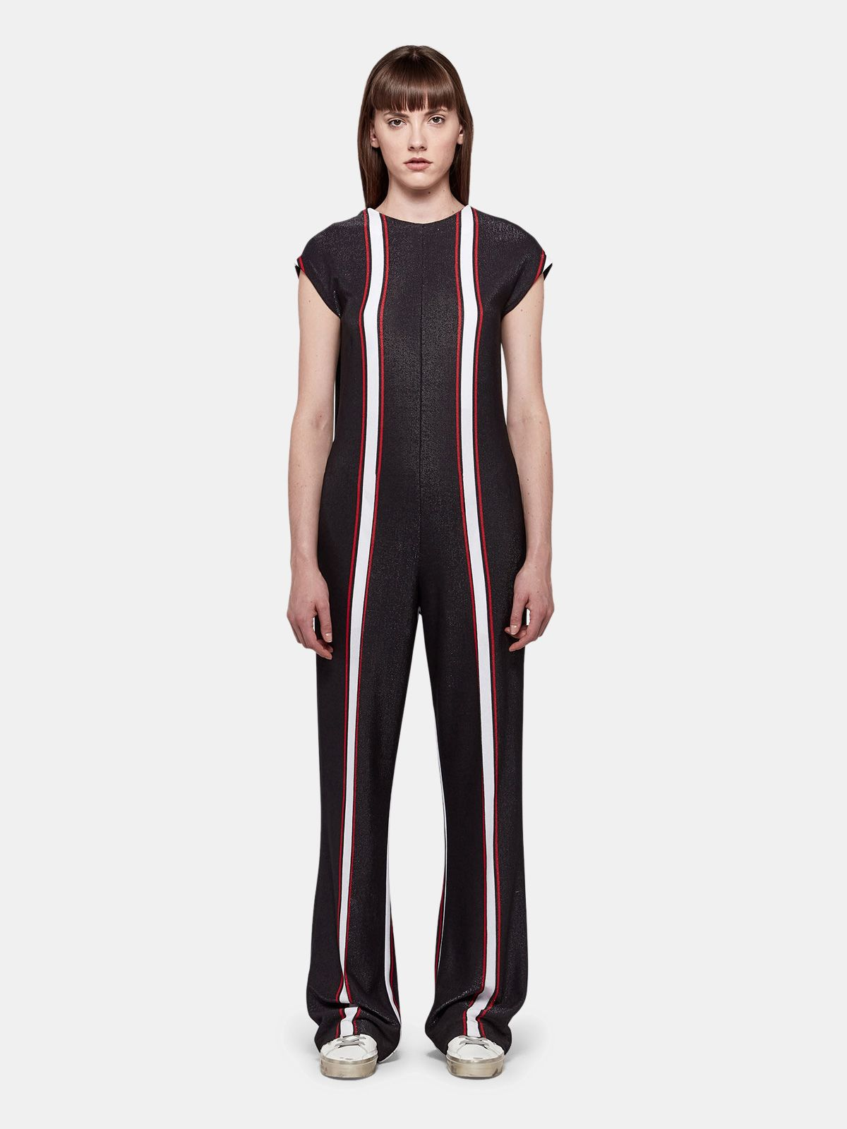 Golden Goose - Narumi jumpsuit with contrasting vertical stripes in