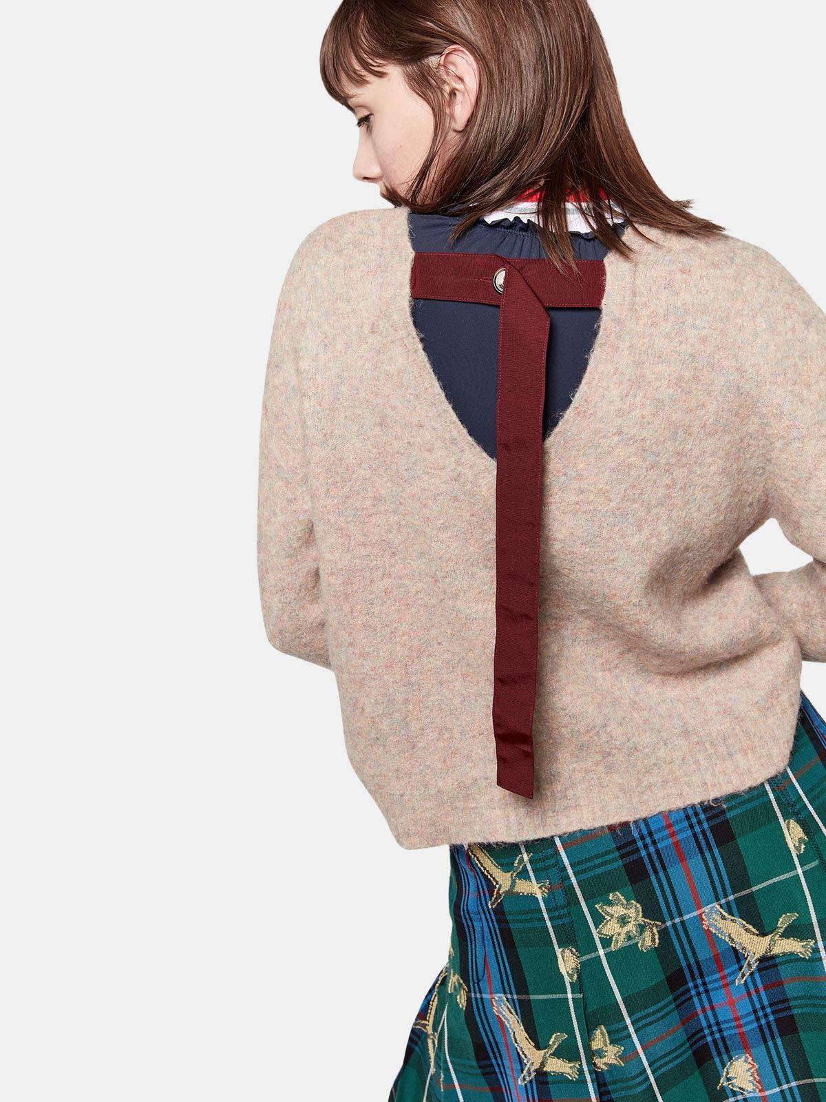 Golden Goose - Yumi crew neck sweatshirt with crane print in