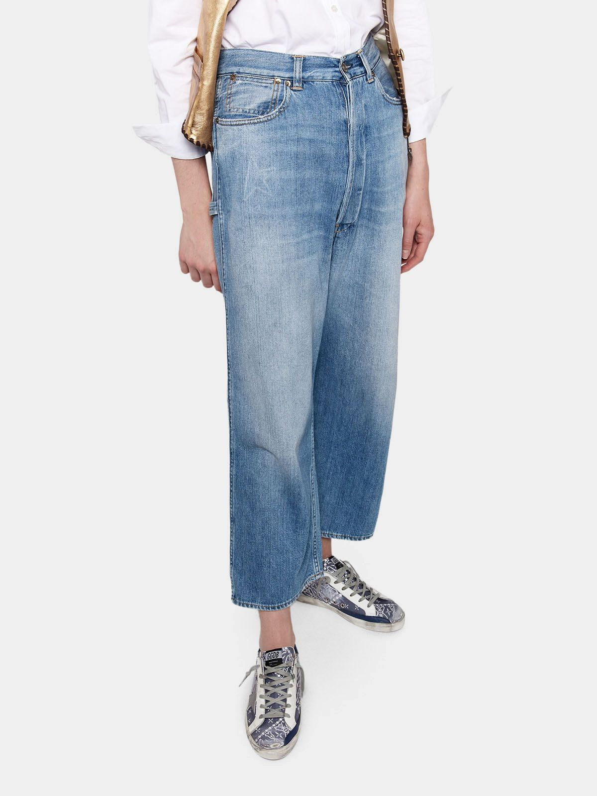 Golden Goose - Breezy relaxed fit jeans in cotton denim in
