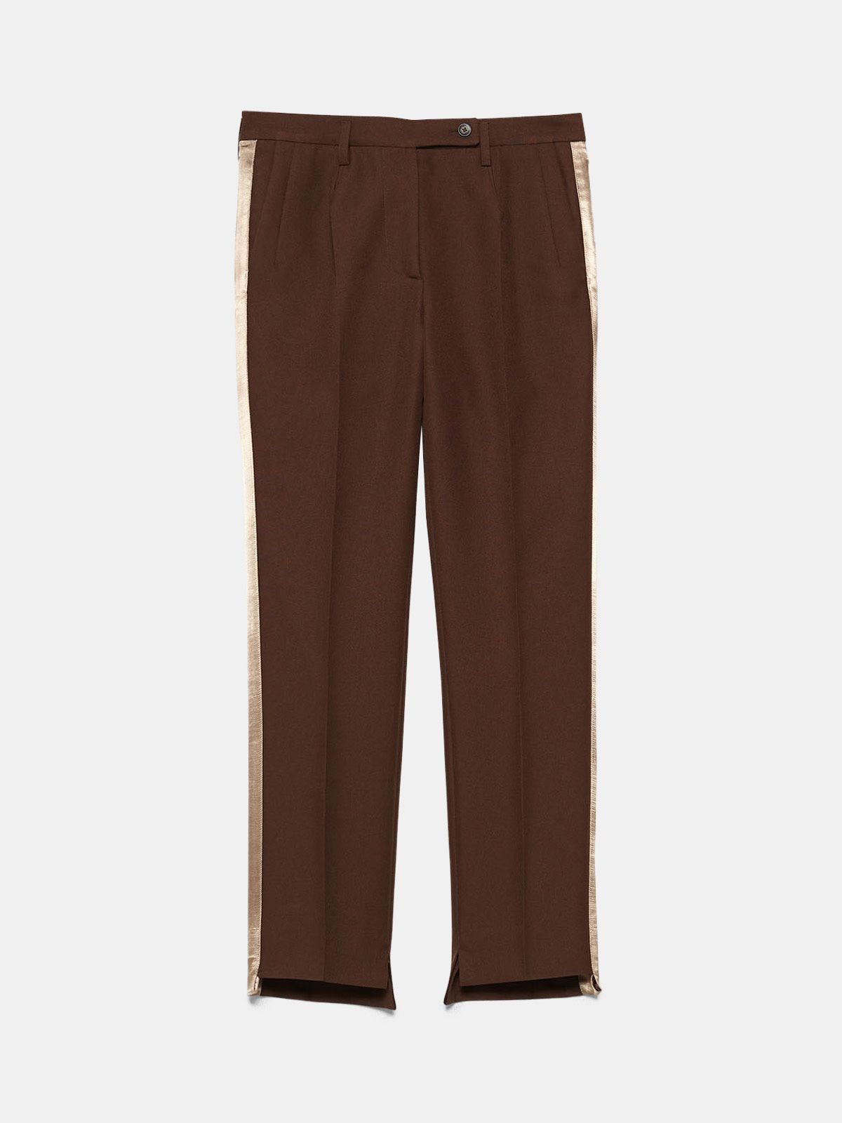 Golden Goose - Venice trousers in a technical fabric with satin inserts in