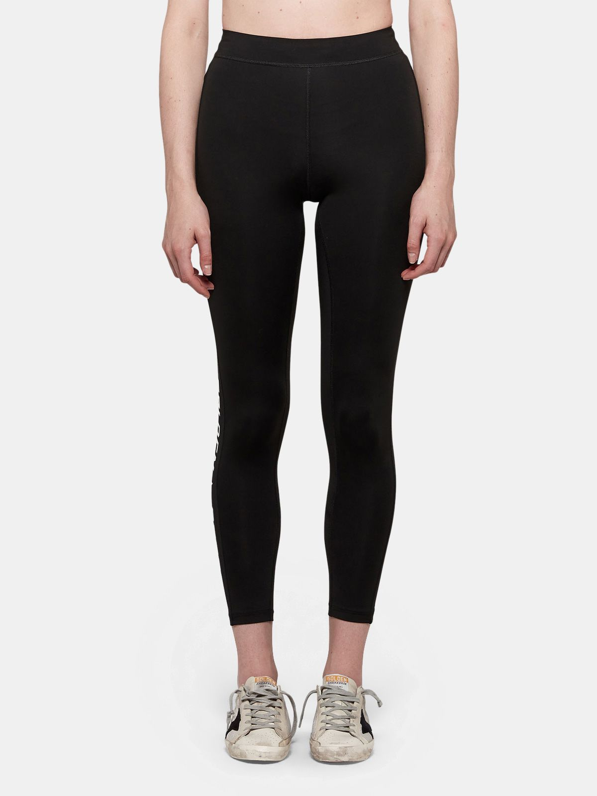 Golden Goose - Nori leggings in stretch fabric with contrasting logo in