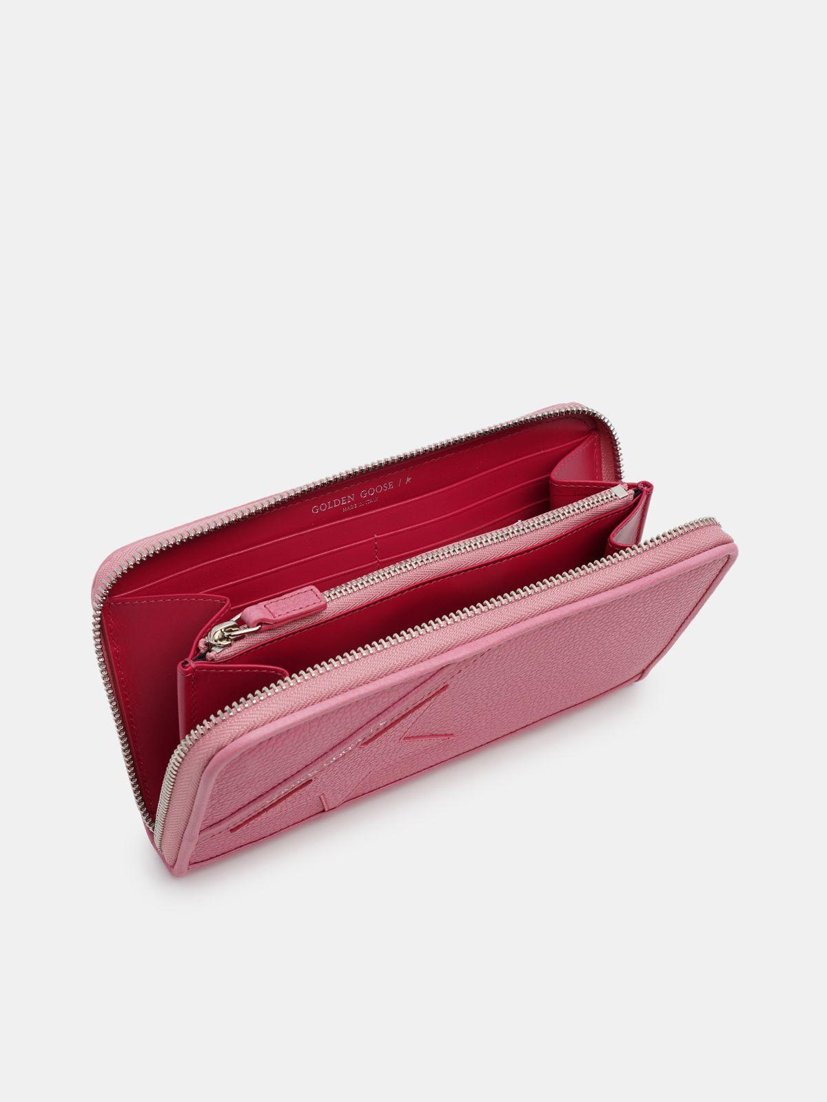 Golden Goose - Large pink Star Wallet   in