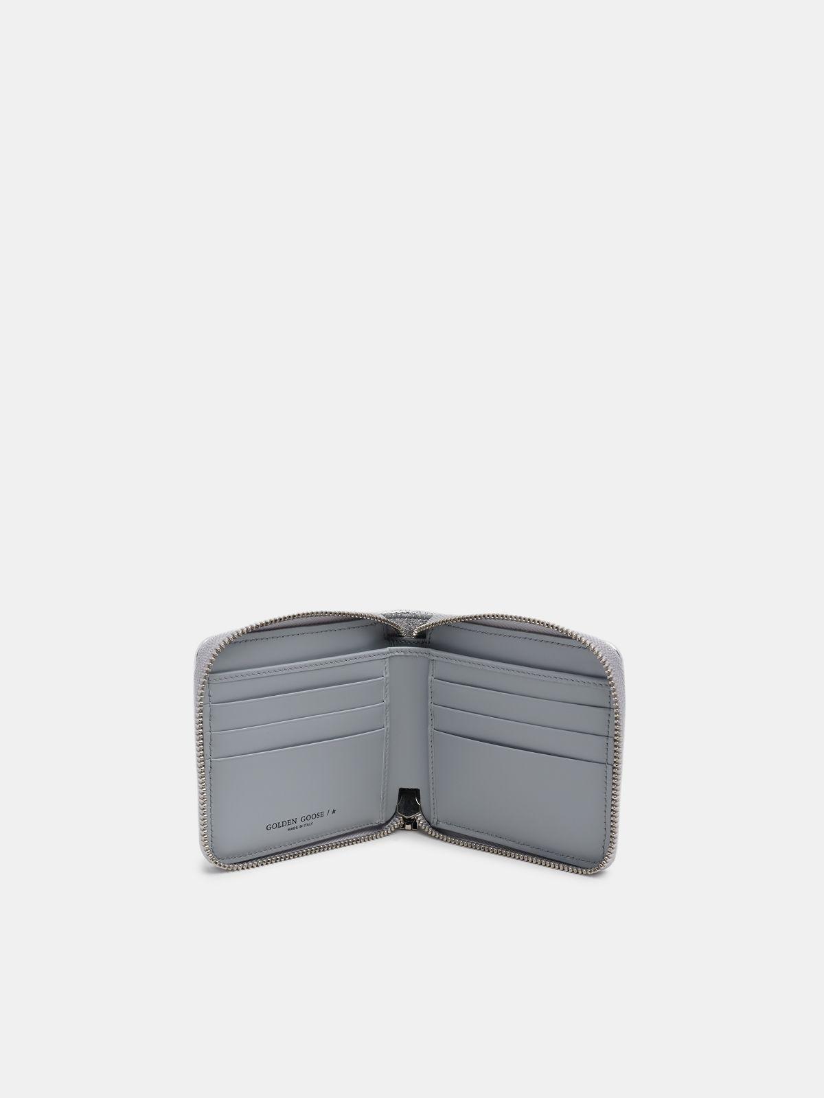 Golden Goose - Medium silver Star Wallet in