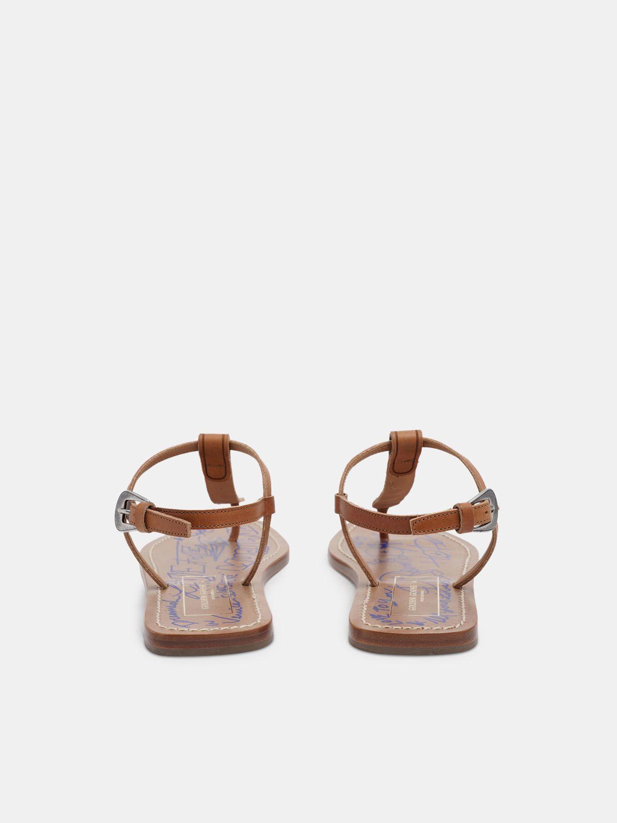 Golden Goose - Dakota thong sandals with decorative gems in