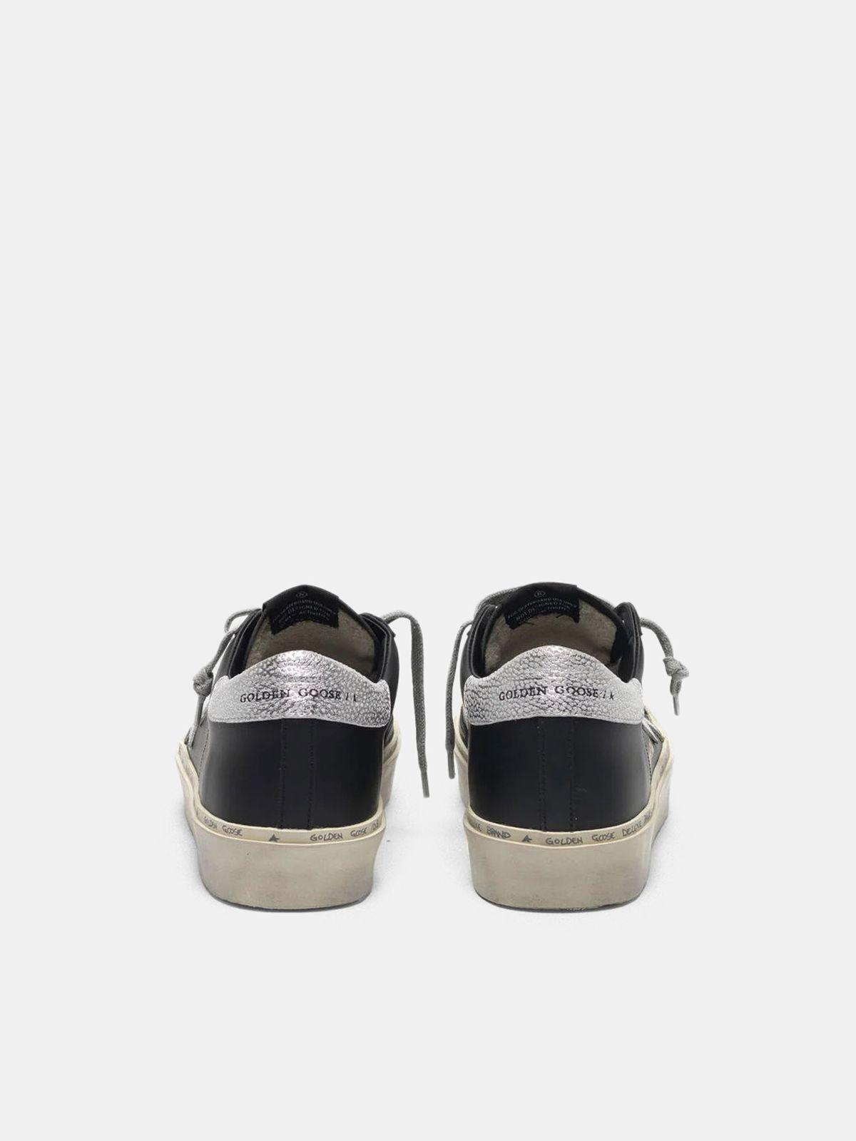 Golden Goose - Black Hi Star sneakers with metallic star in