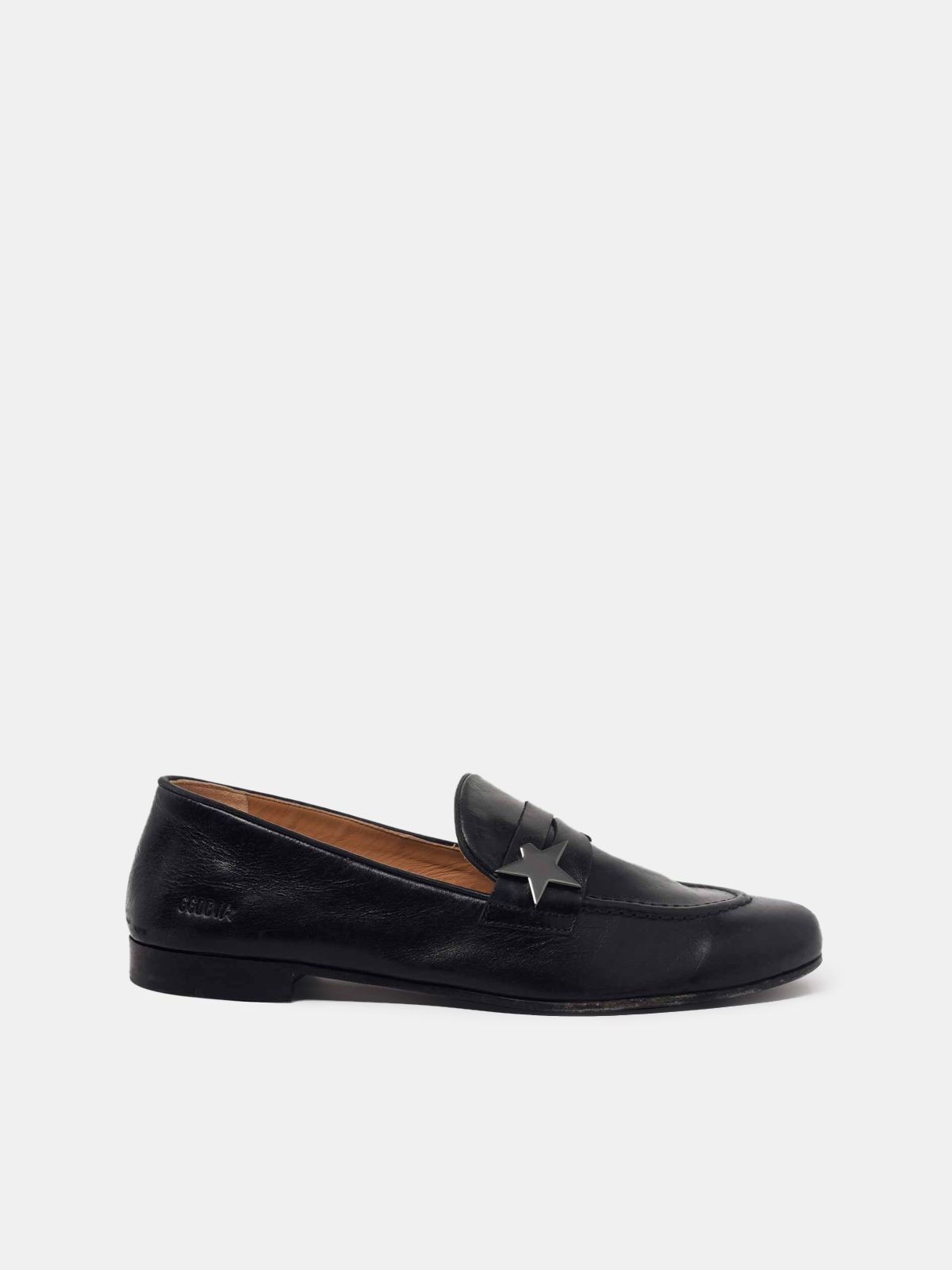 Golden Goose - Virginia loafers in smooth black leather in