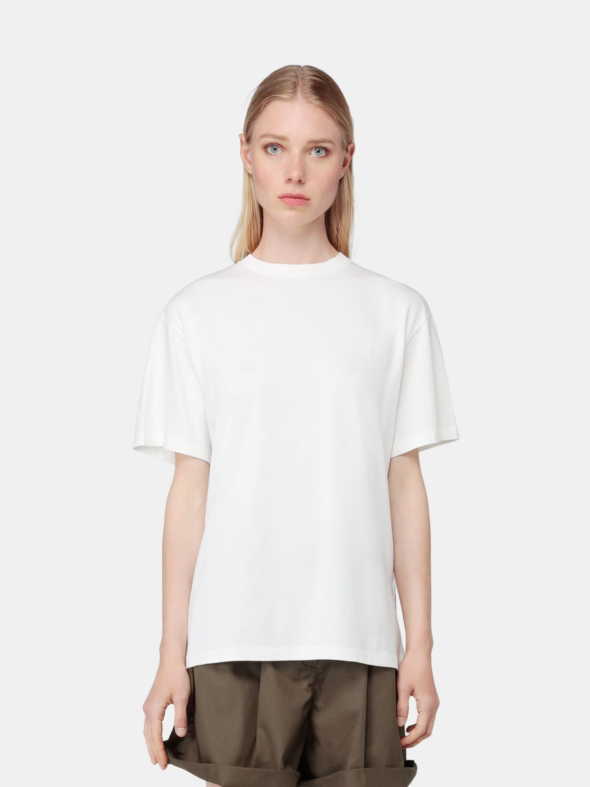 Golden Goose - White Golden T-shirt with Sneakers Lovers print in