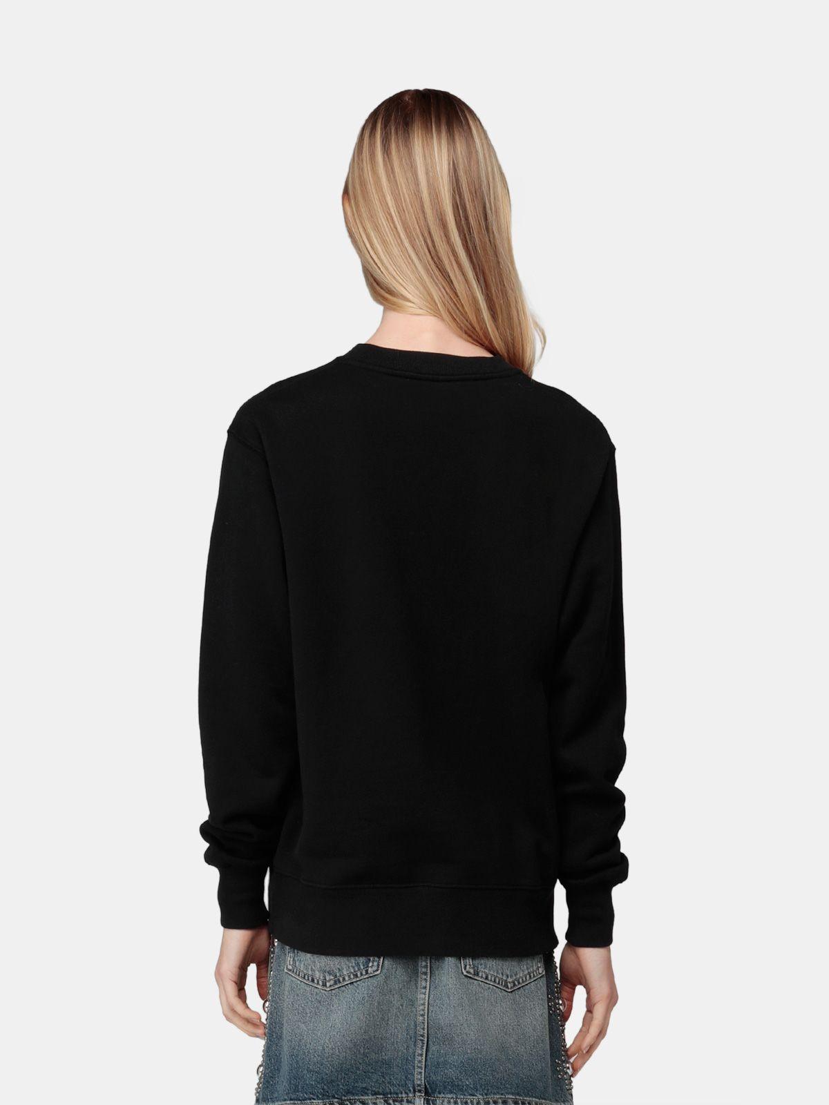 Golden Goose - Black Higanbana sweatshirt with logo print in