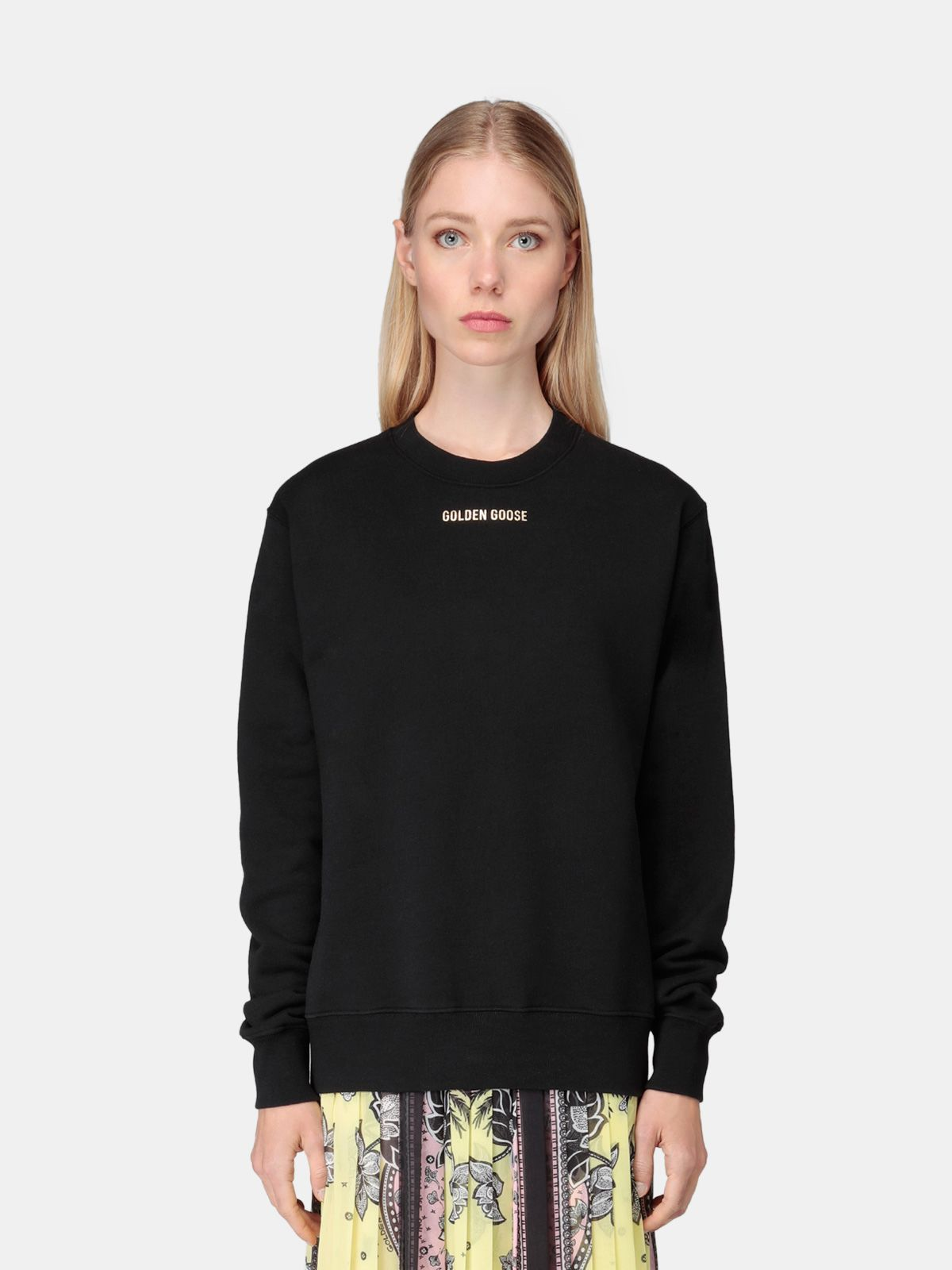 Golden Goose - Sharon sweatshirt in black with glittery print in