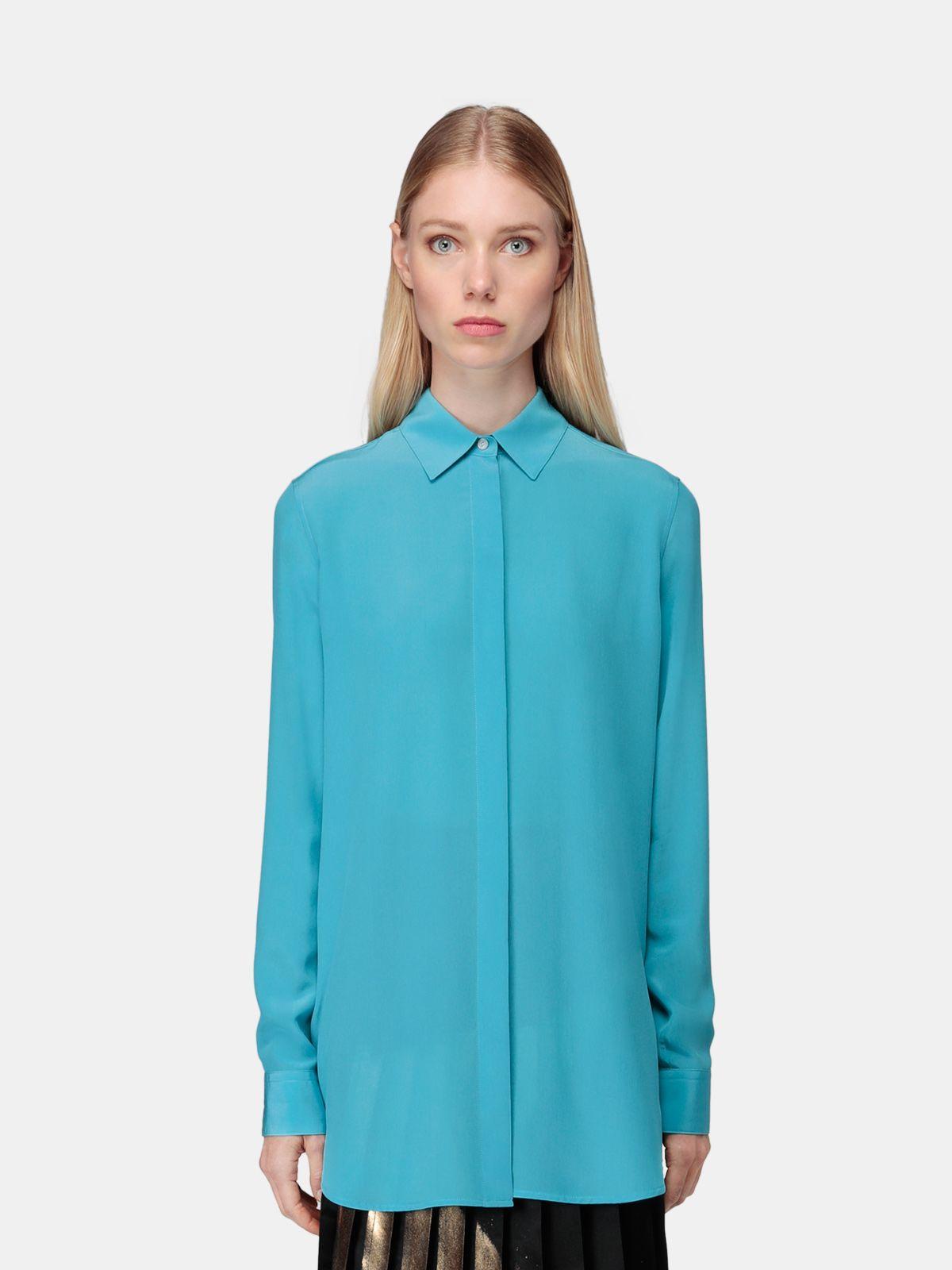 Golden Goose - Alice silk shirt in blue in