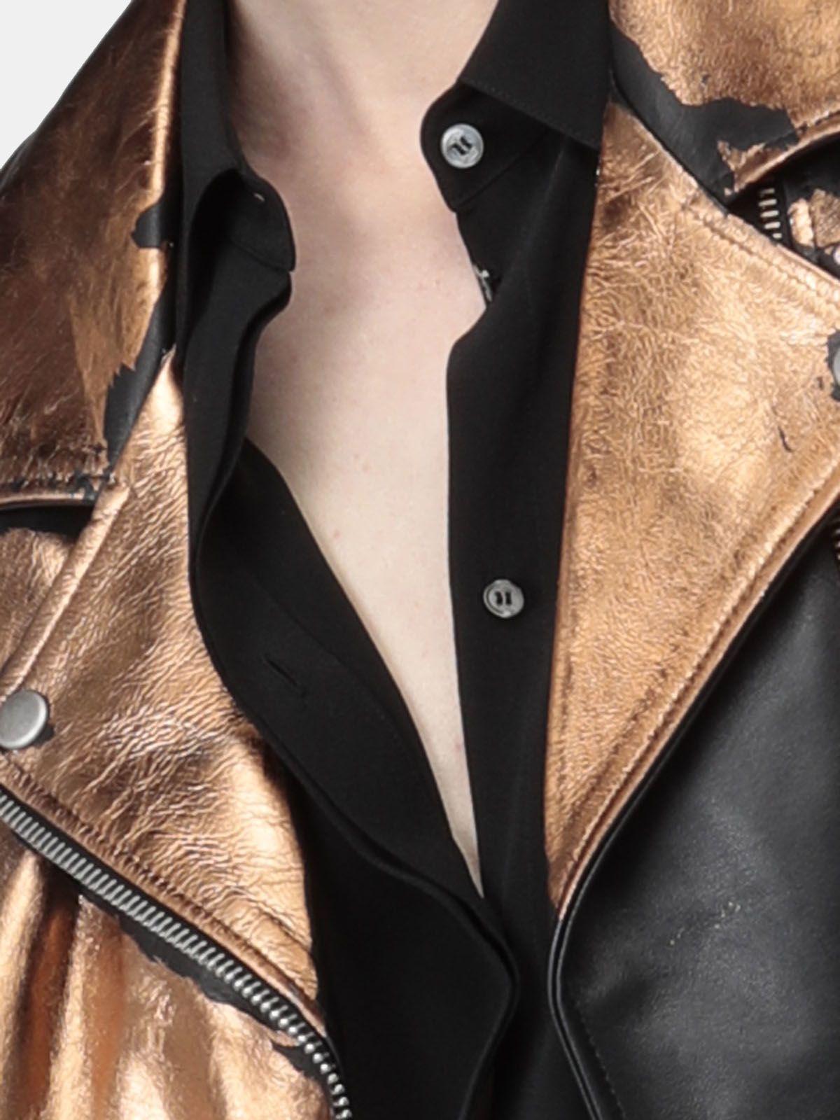 Golden Goose - Camicia Alice nera in seta in