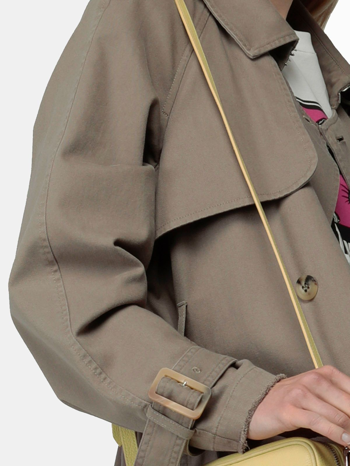 Golden Goose - Grace trench coat in military green cotton in