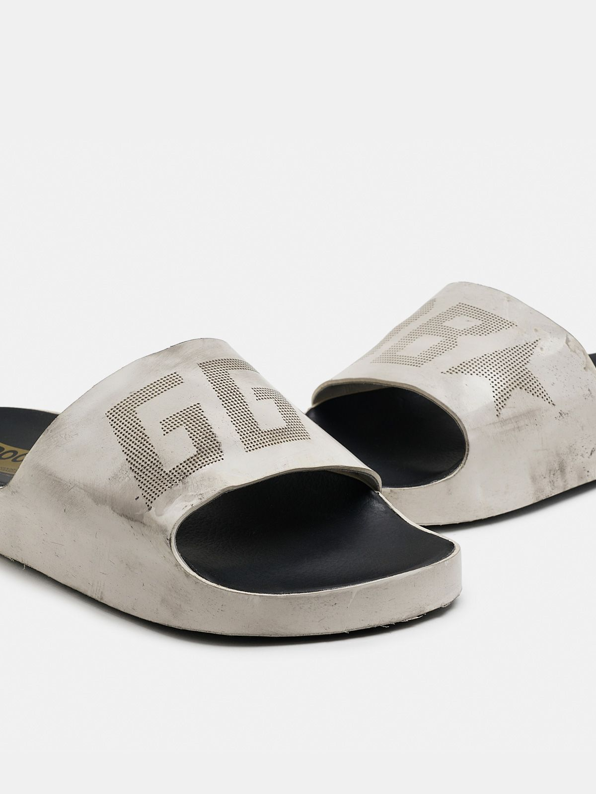 Golden Goose - Poolstar uomo bianche con logo GGDB in
