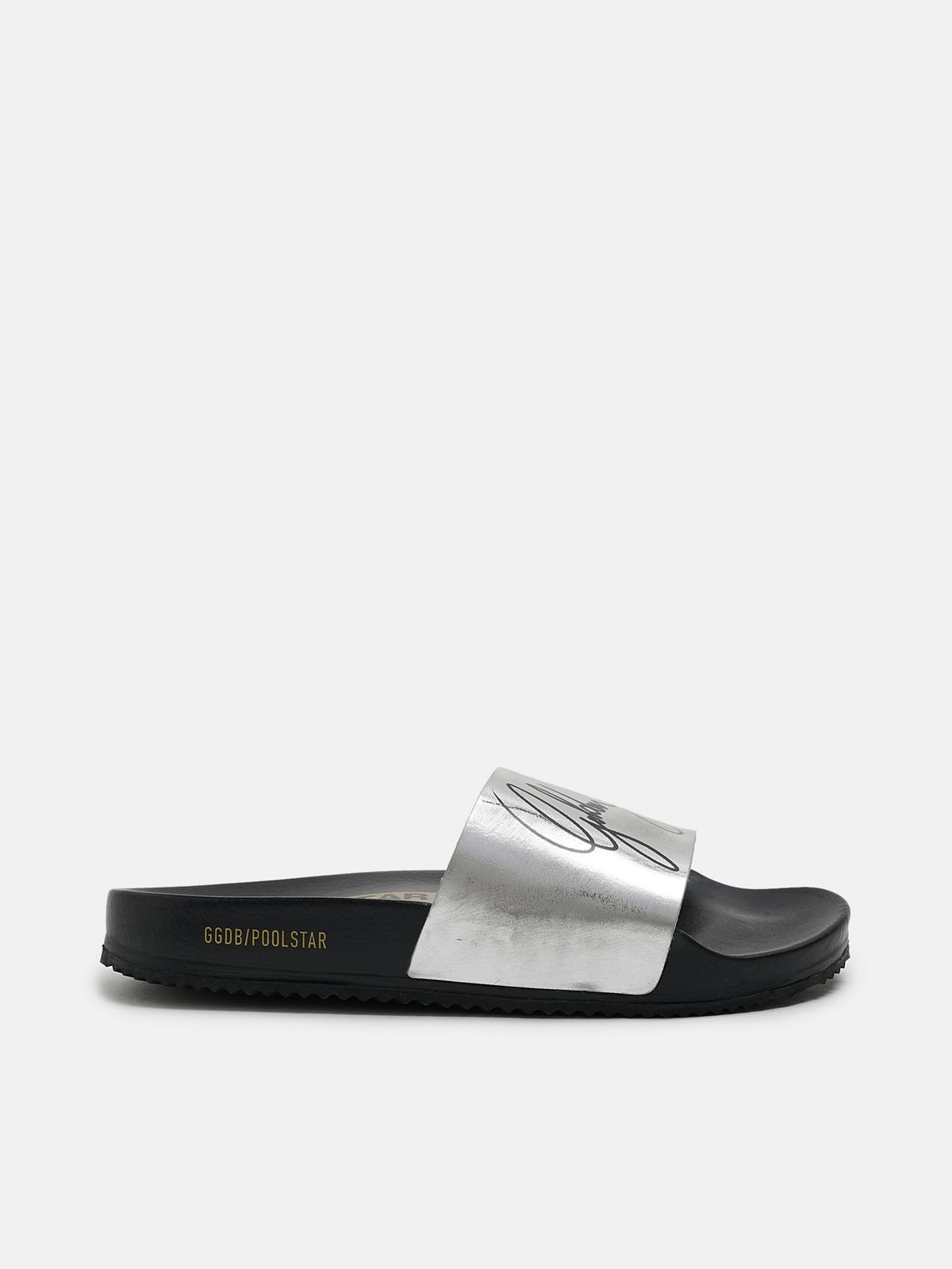 Golden Goose - Women's black Poolstars with silver strap in