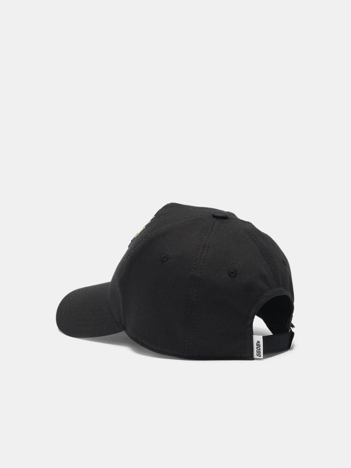 Golden Goose - Cappellino da baseball Larry nero con logo in