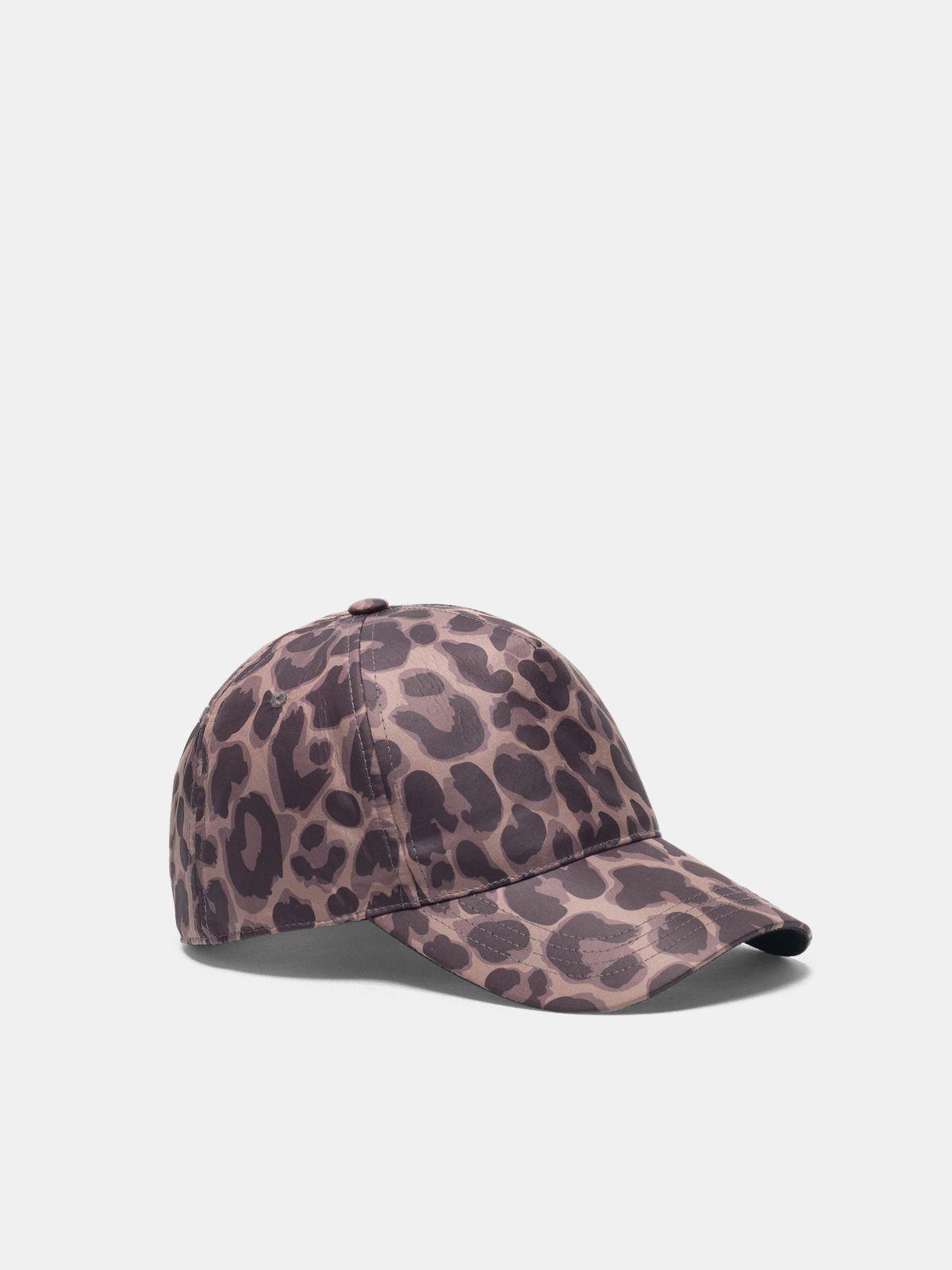 Golden Goose - Panji nylon baseball cap with jaguar print in
