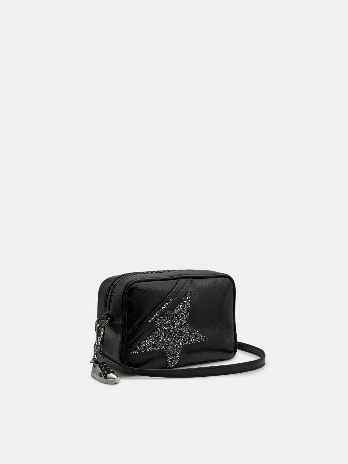 Golden Goose - Black Star Bag made of patent leather with Swarovski star in