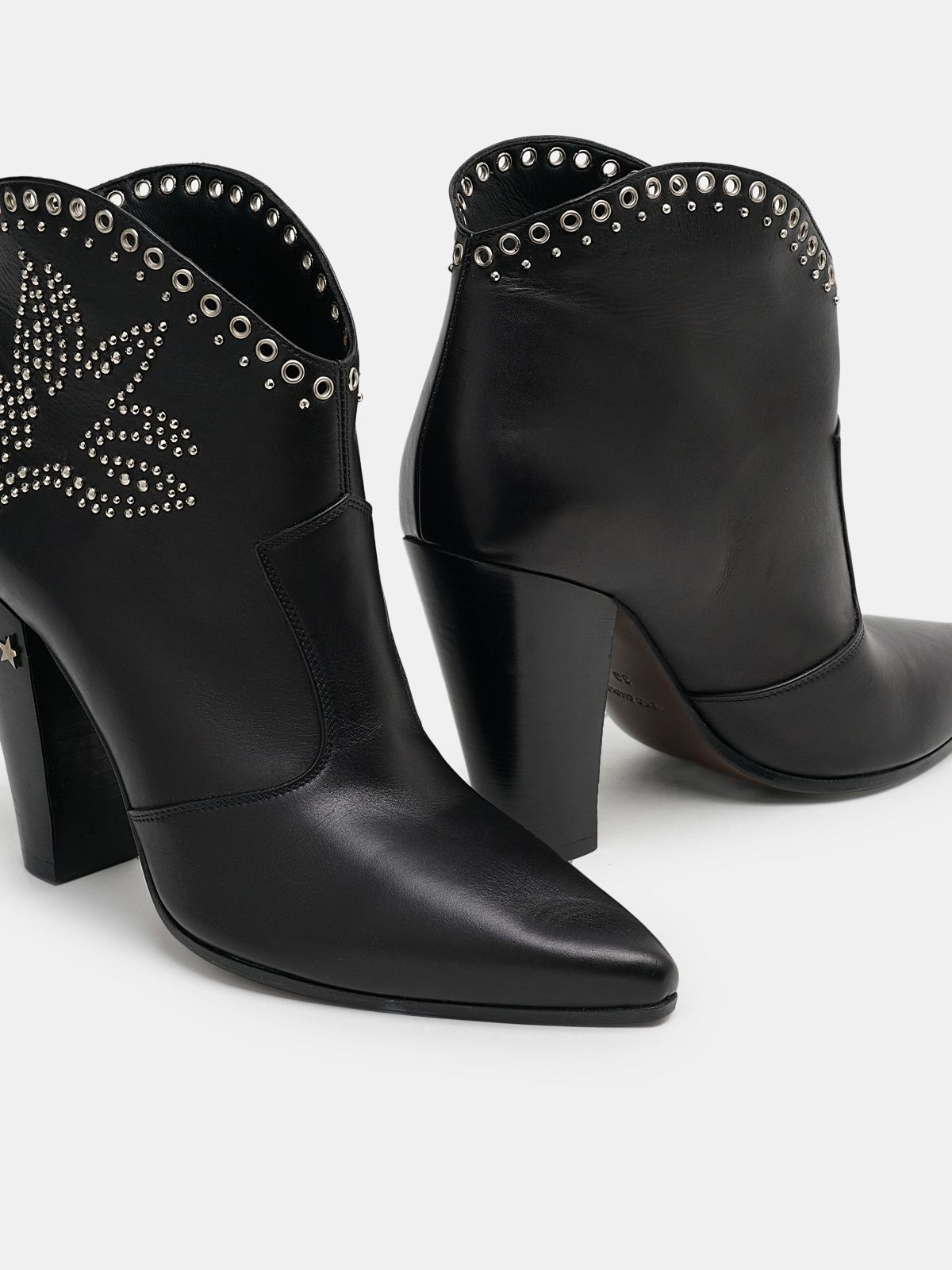 Golden Goose - Michelle Low ankle boots with decorative studs in