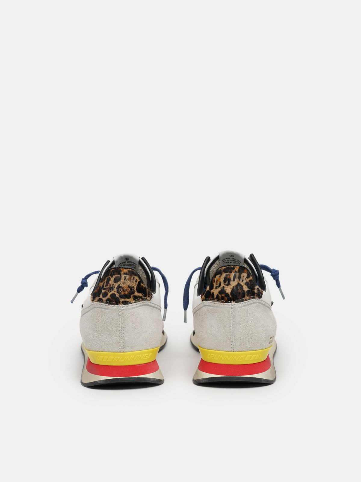 Golden Goose - Running sneakers with blue and red details in