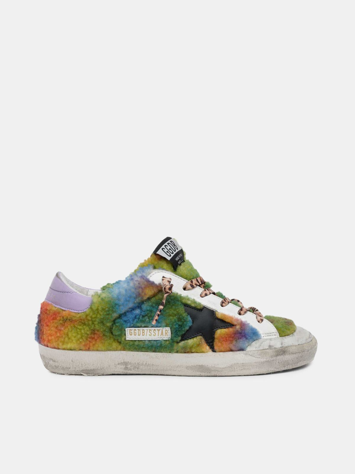 Sneakers Super-Star tie and dye en shearling multicolore