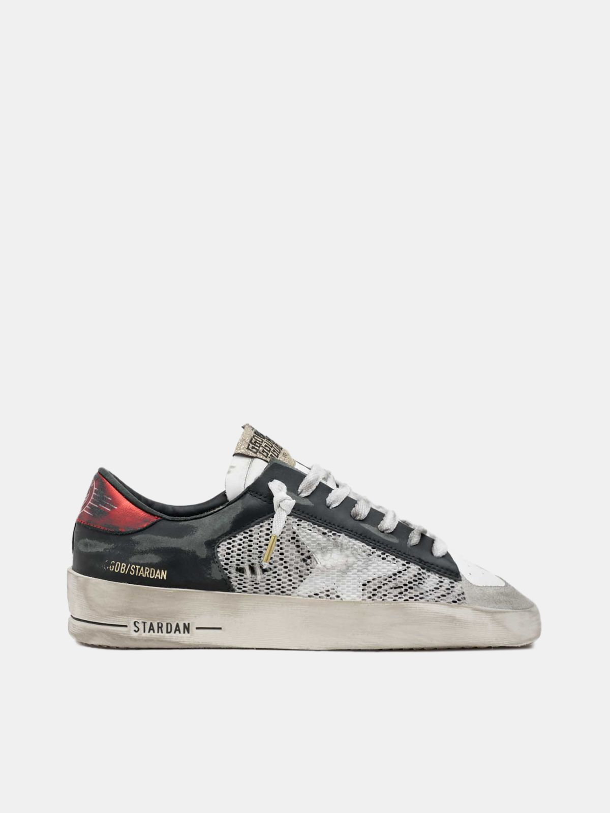 Golden Goose - Stardan sneakers with zebra-print pony skin detail in