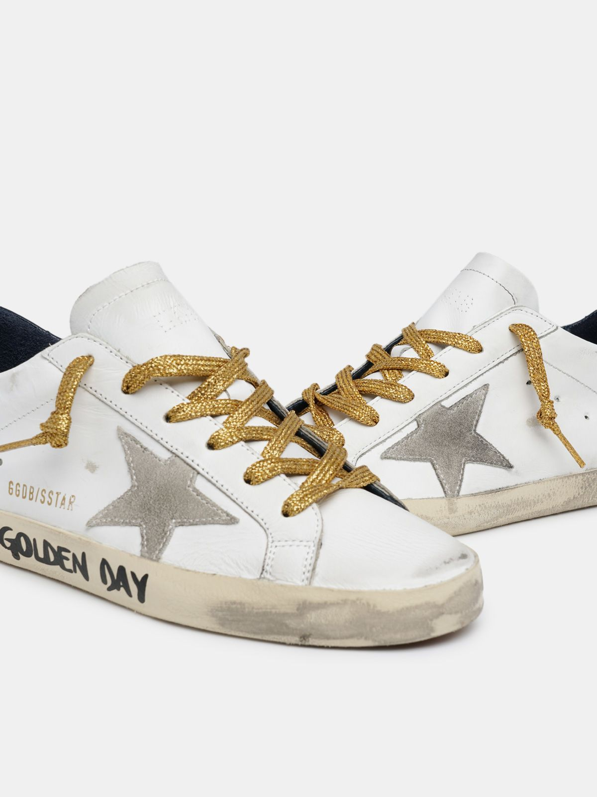 Golden Goose - Super-Star con scritta a mano Have a Golden Day in