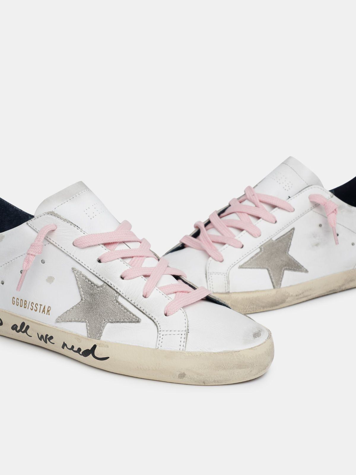 Golden Goose - Super-Star sneakers with handwritten Love is all we need lettering in