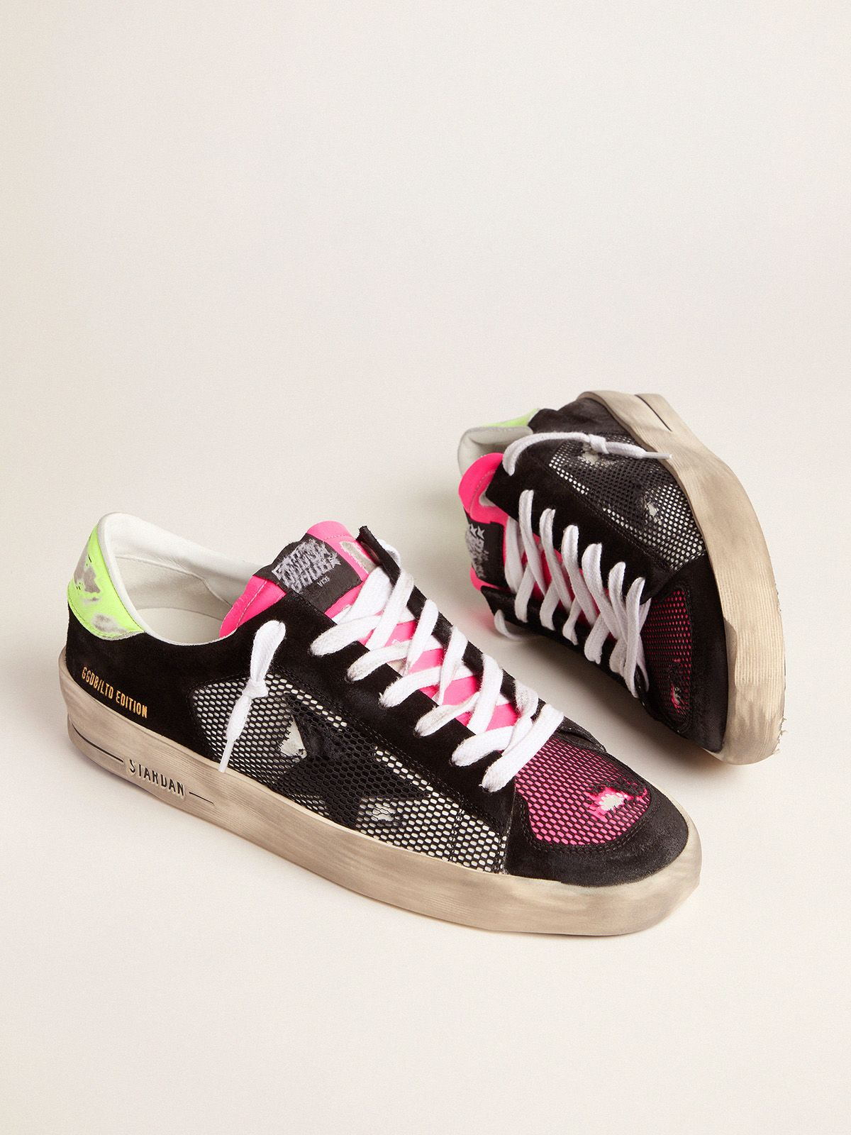 Golden Goose - Men's Limited Edition Stardan sneakers in fuchsia and yellow in