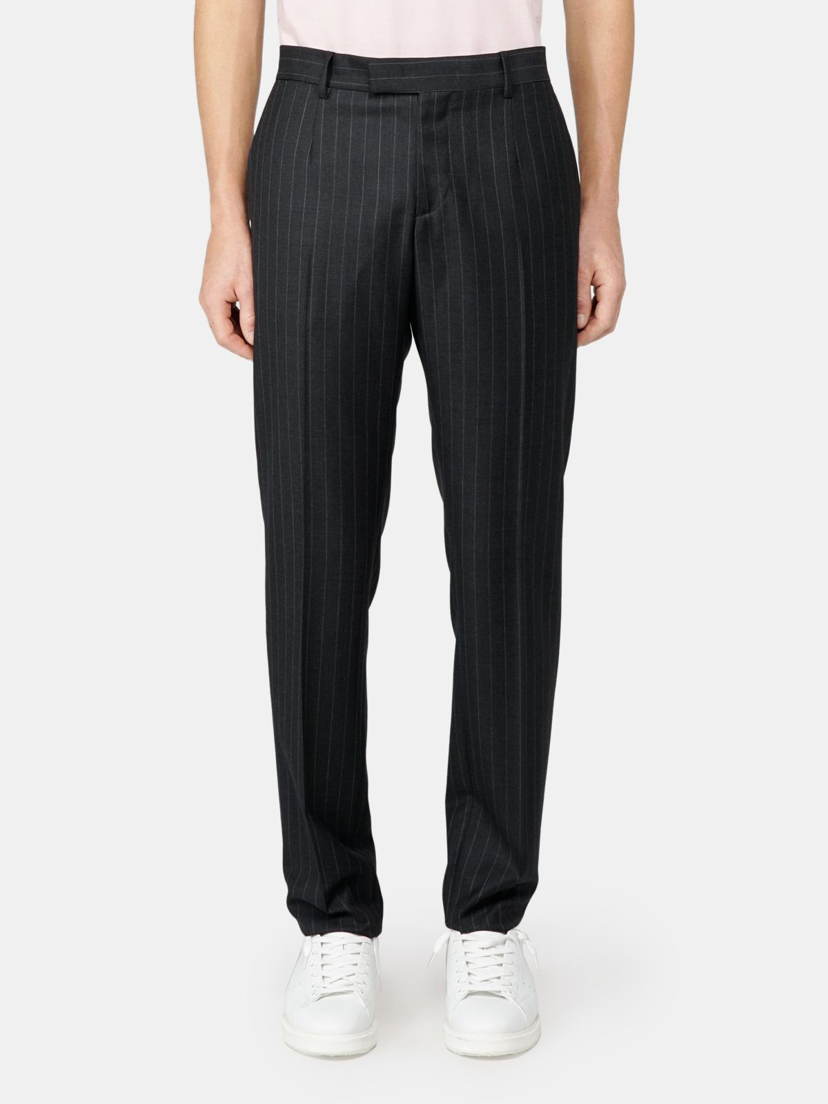 Golden Goose - Alcide Milano trousers with pinstripe motif in