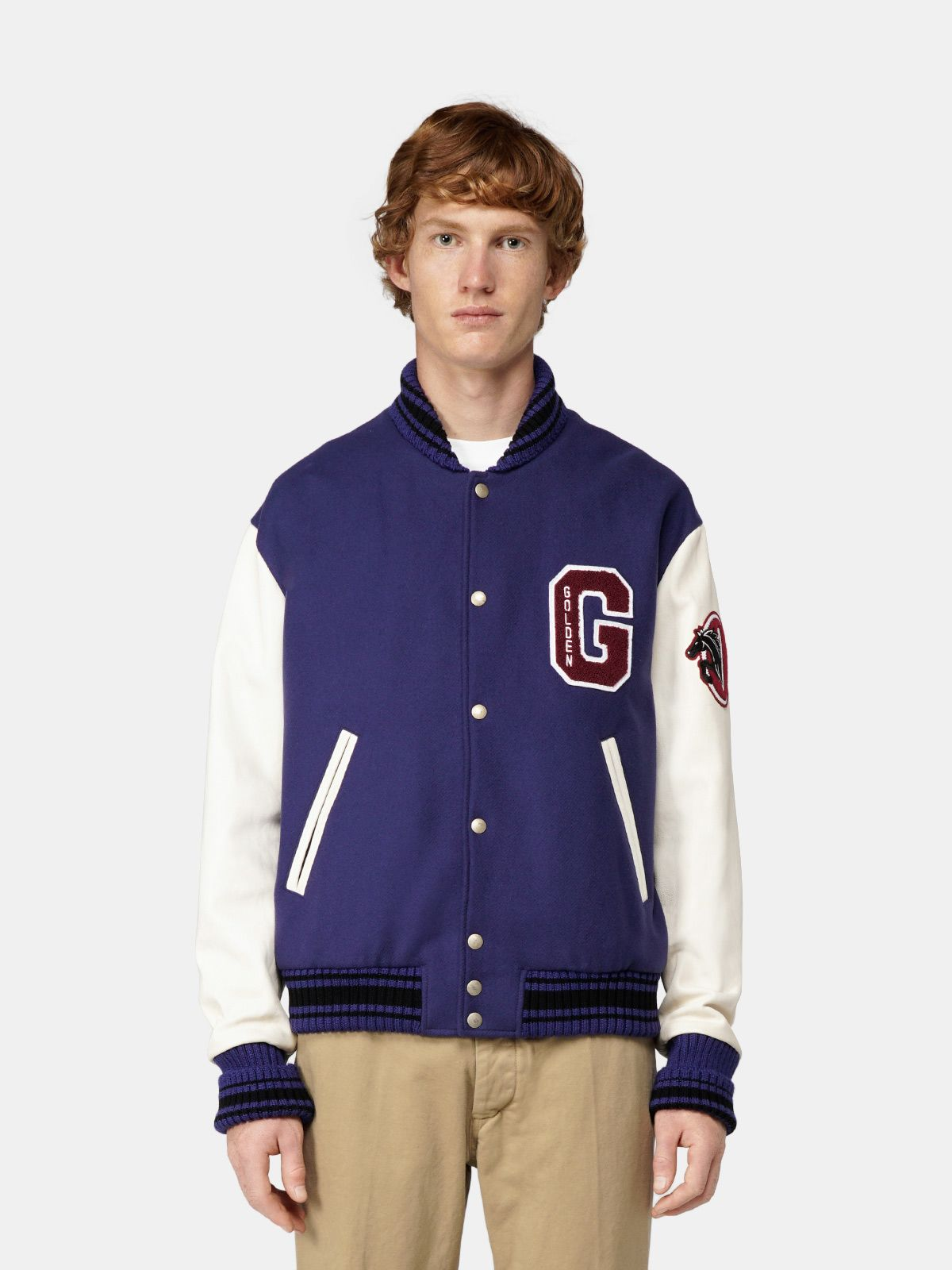 Golden Goose - Aleandro bomber jacket with print on the back in