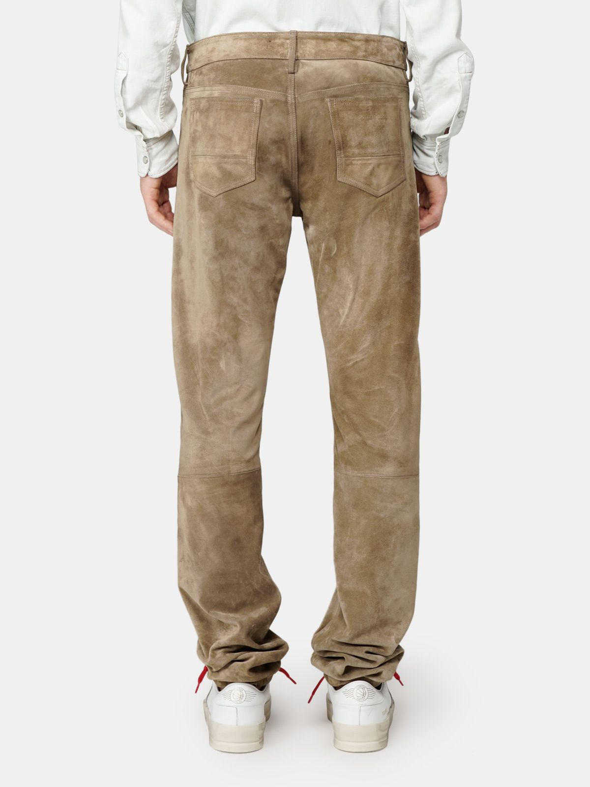 Golden Goose - Asher trousers in suede leather in