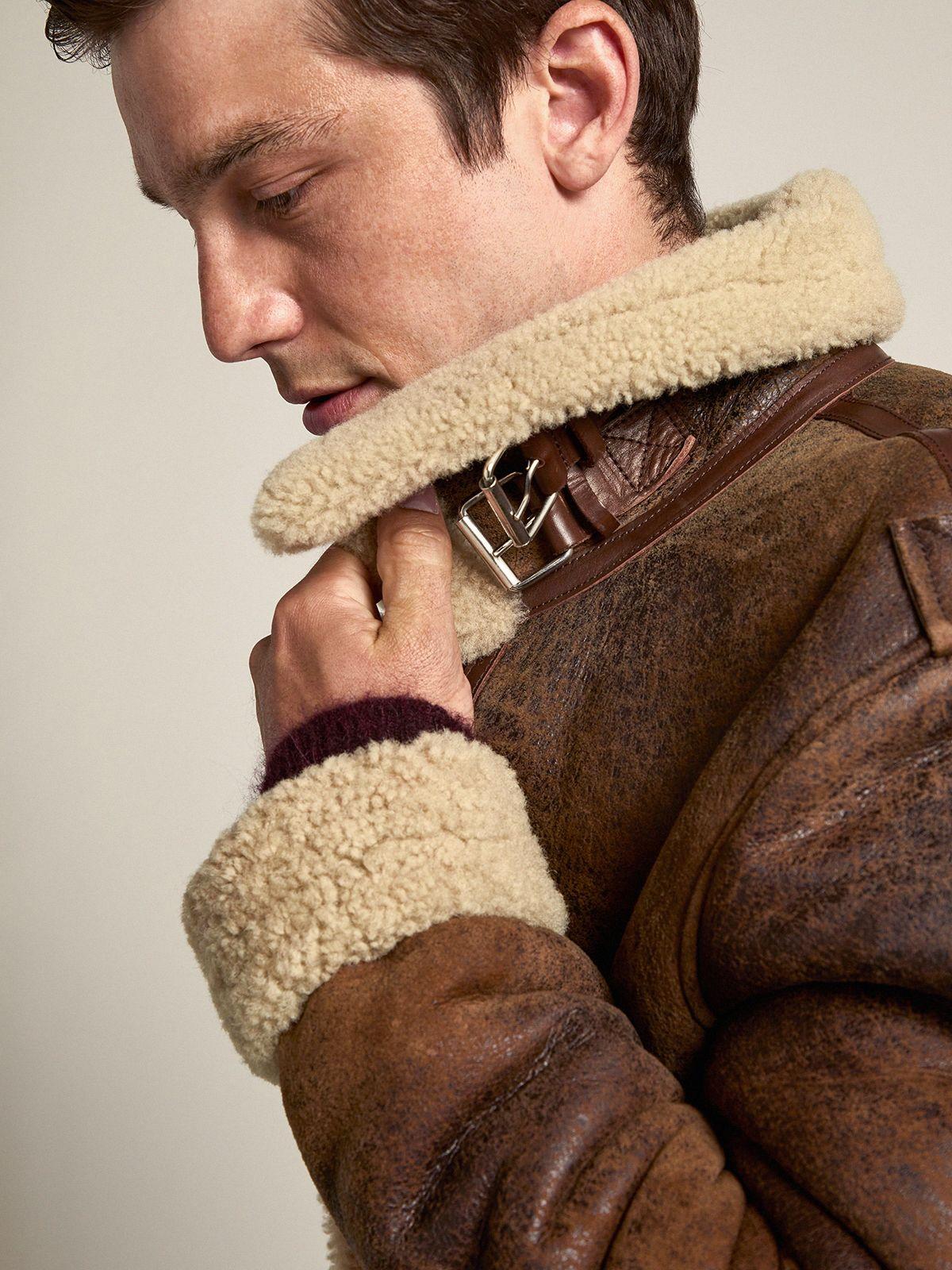 Golden Goose - Arvel sheepskin jacket with shearling interior in