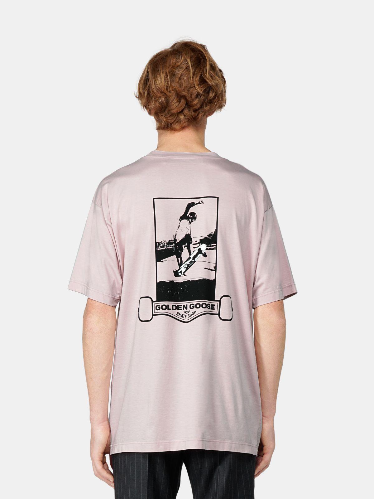 Golden Goose - Artù oversize T-shirt with skateboard print in