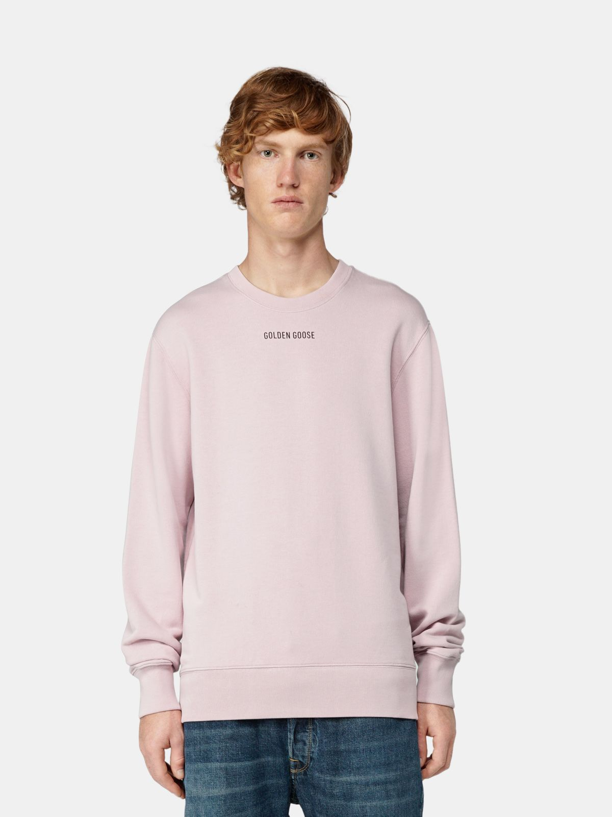 Golden Goose - Archibald sweatshirt with Sneakers Lover print on the back in