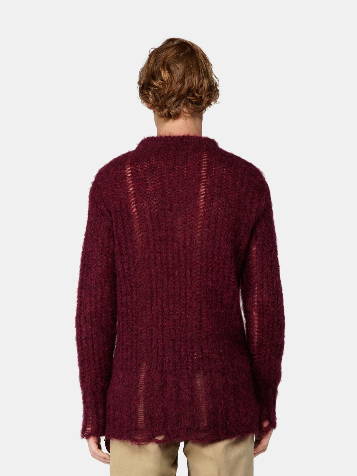 Golden Goose - Algar sweater in burgundy mohair wool in