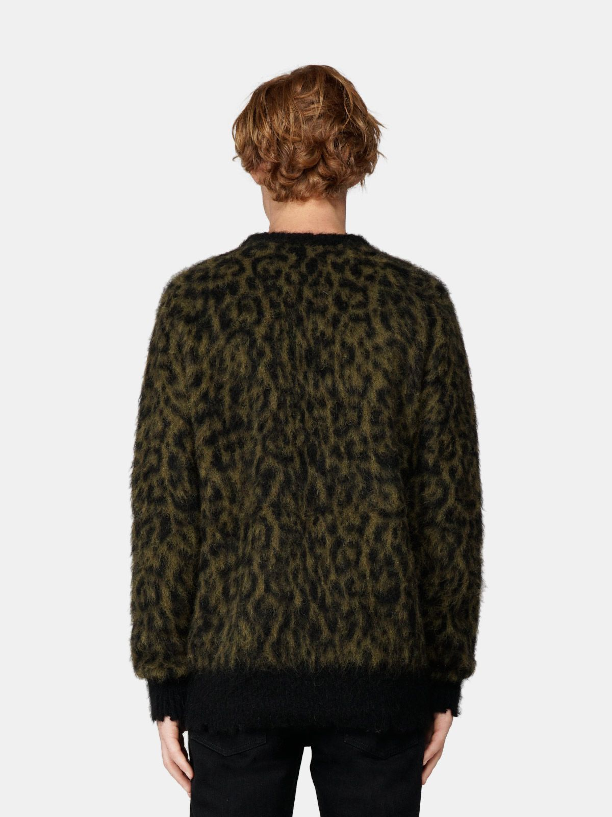 Golden Goose - Alton round-neck sweater with animal-print motif in