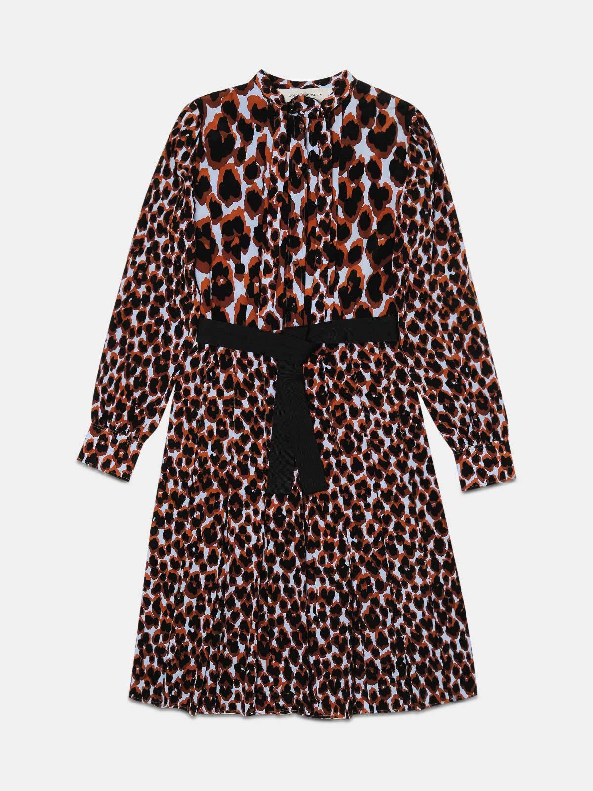 Aida dress with leopard print