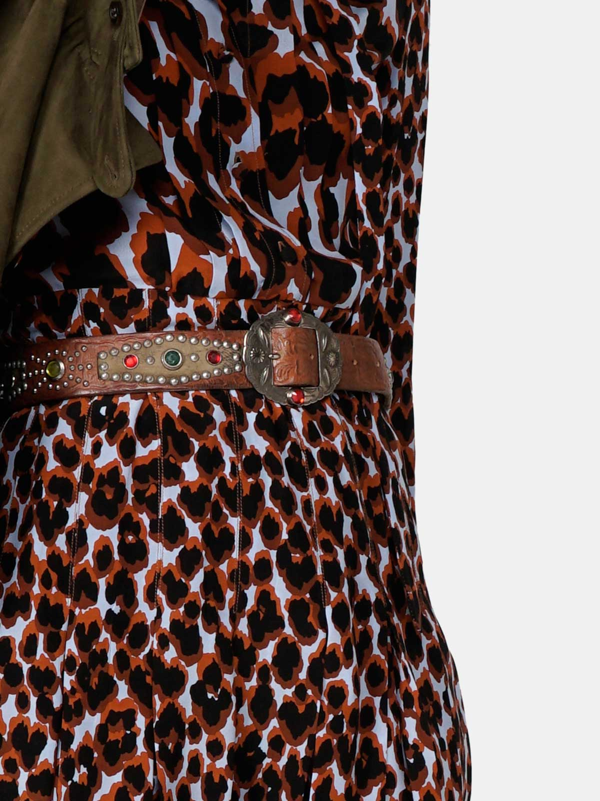 Golden Goose - Aida dress with leopard print in