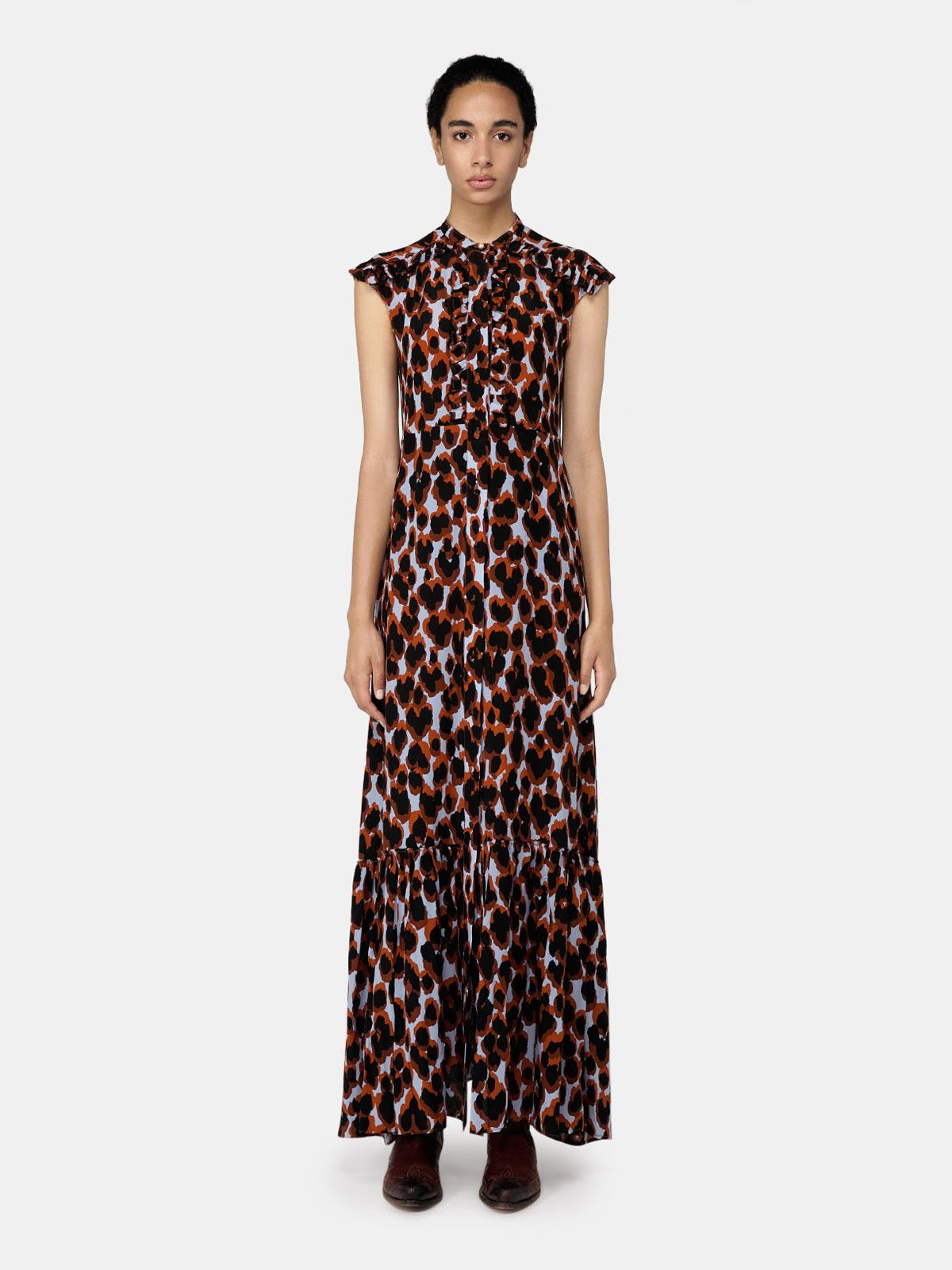 Golden Goose - Annagiulia long dress with leopard print in