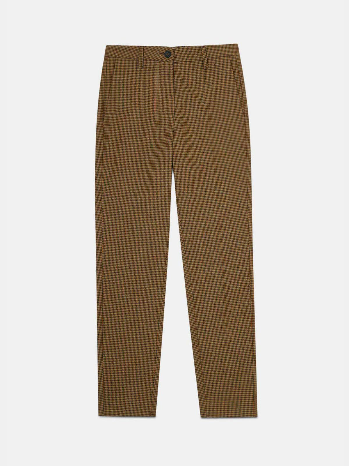 Golden Goose - Algisa trousers with fluorescent houndstooth pattern in