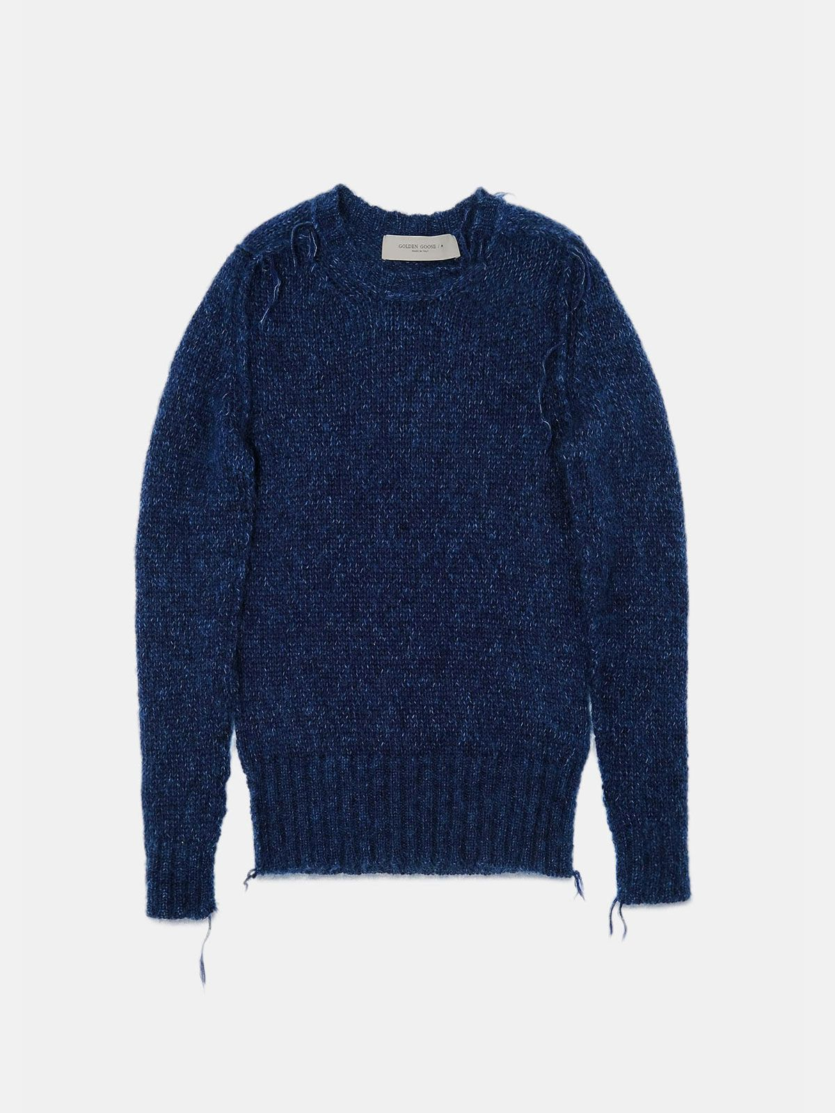 Golden Goose - Melange blue Annamaria pullover with pin in