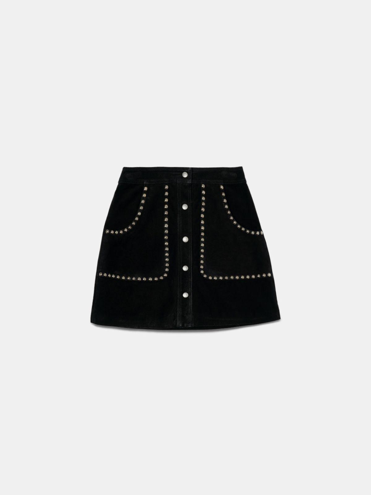 Artemide miniskirt in black with studs