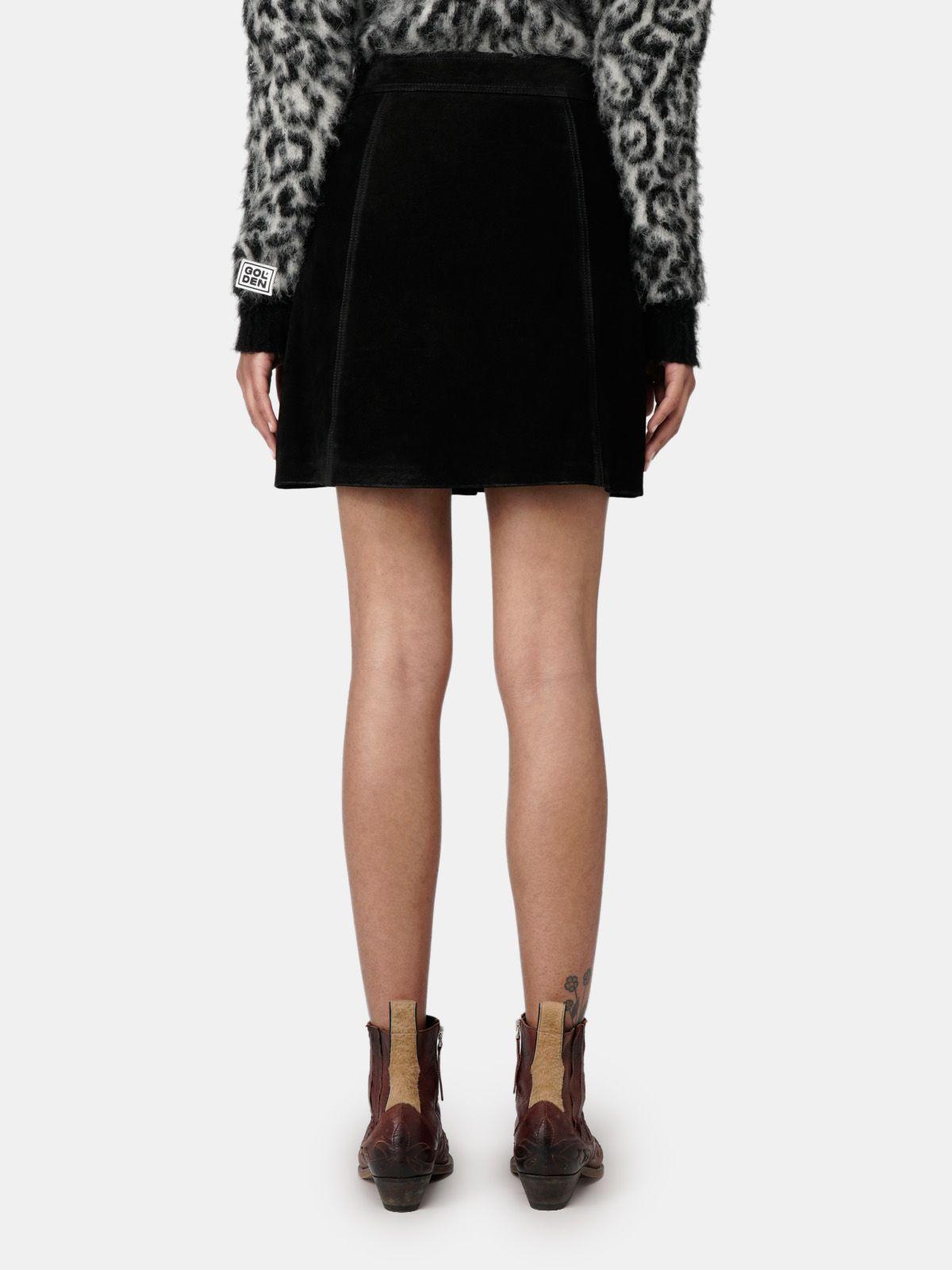 Golden Goose - Artemide miniskirt in black with studs in