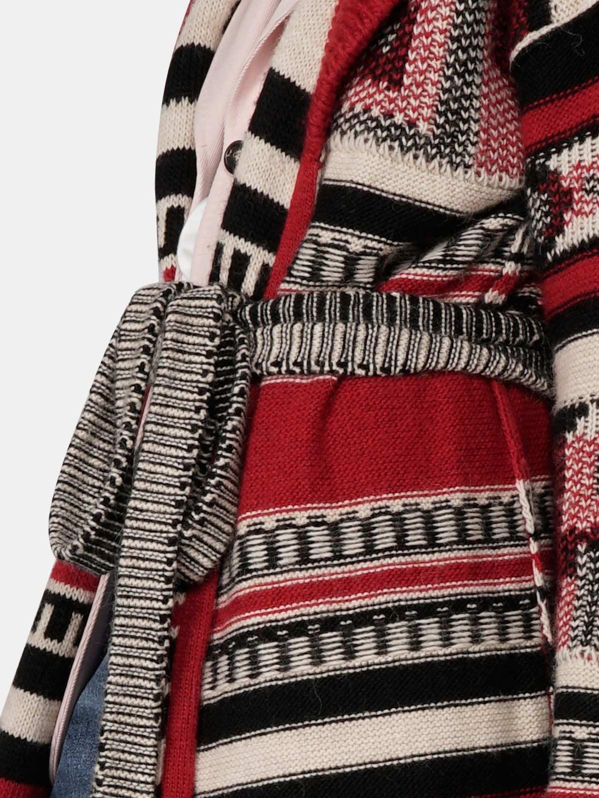 Golden Goose - Azul cardigan in jacquard pattern wool blend in