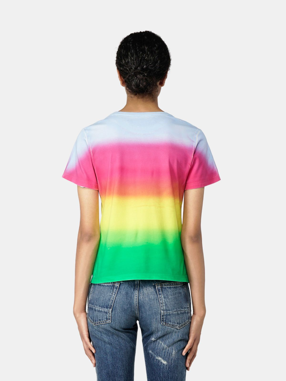 Golden Goose - Ania tie-dye effect T-shirt with print on the front in