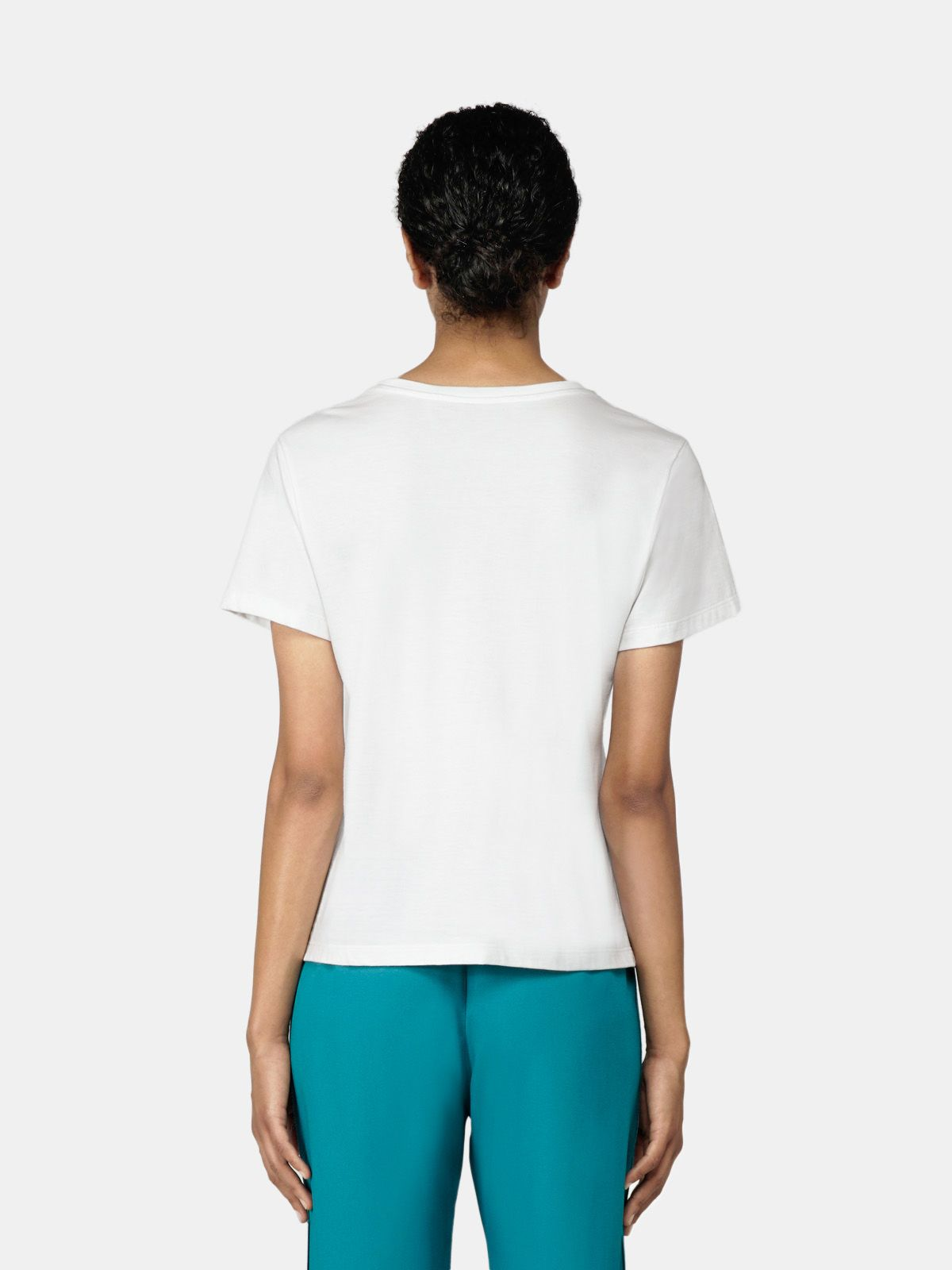 Golden Goose - Ania white T-shirt with Original Series print in