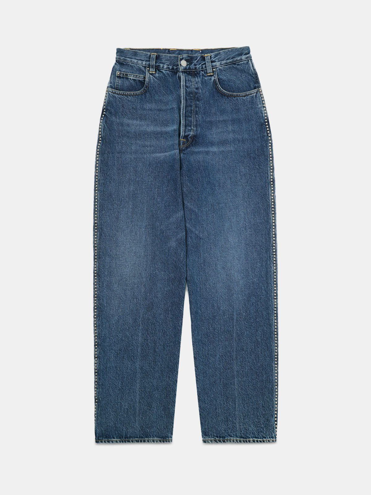 Golden Goose - Kim jeans in vintage effect mid wash denim in