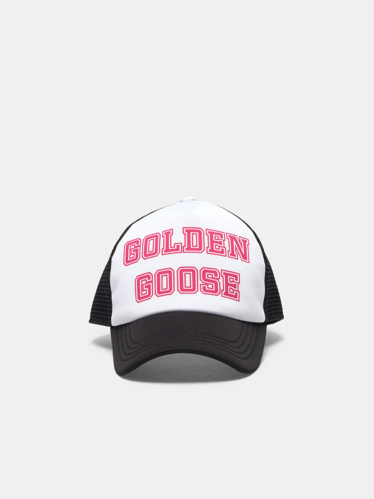 Golden Goose - Golden baseball cap with fuchsia logo in