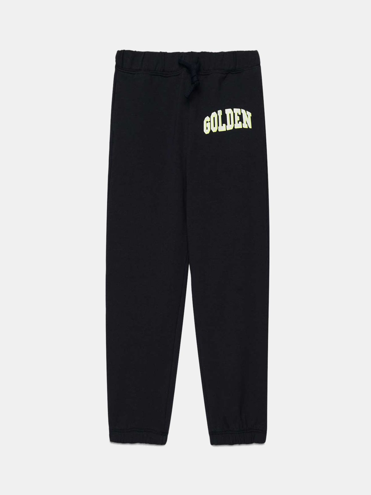 Dark blue Golden joggers with contrasting white logo